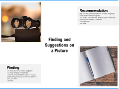 Finding And Suggestions On A Picture Ppt PowerPoint Presentation Portfolio Themes PDF