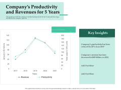 Firm Project Prioritization And Selection Companys Productivity And Revenues For 5 Years Elements PDF