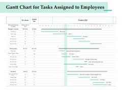 Firm Project Prioritization And Selection Gantt Chart For Tasks Assigned To Employees Brochure PDF