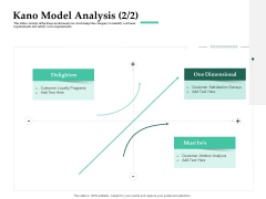 Firm Project Prioritization And Selection Kano Model Analysis Delighters Brochure PDF