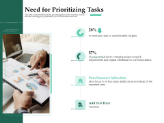 Firm Project Prioritization And Selection Need For Prioritizing Tasks Elements PDF