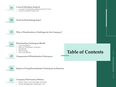 Firm Project Prioritization And Selection Table Of Contents Structure PDF