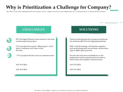Firm Project Prioritization And Selection Why Is Prioritization A Challenge For Company Formats PDF