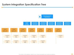 Firm Structure Unification Process System Integration Specification Tree Ppt Outline Guidelines PDF
