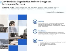 Firm Webpage Builder And Design Case Study For Organization Website Design And Development Services Slides PDF