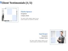 Firm Webpage Builder And Design Client Testimonials Management  Template PDF
