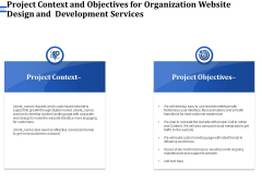 Firm Webpage Builder And Design Project Context And Objectives For Organization Website Design And Development Services  Formats PDF