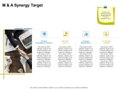 Firm Working Together M And A Synergy Target Ppt Outline Clipart PDF