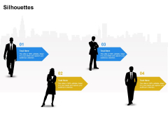 Firm Working Together Silhouettes Ppt Professional Format PDF