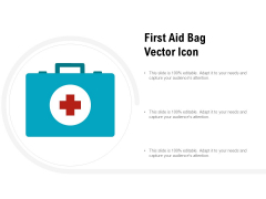 First Aid Bag Vector Icon Ppt PowerPoint Presentation Outline Summary