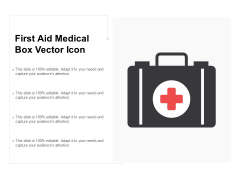First Aid Medical Box Vector Icon Ppt Powerpoint Presentation Infographics Demonstration