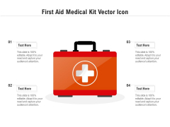 First Aid Medical Kit Vector Icon Ppt PowerPoint Presentation File Demonstration PDF