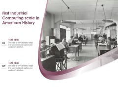 First Industrial Computing Scale In American History Ppt PowerPoint Presentation File Clipart PDF