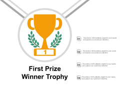 First Prize Winner Trophy Ppt PowerPoint Presentation File Styles