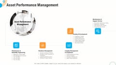 Fiscal And Operational Assessment Asset Performance Management Brochure PDF