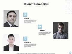 Fiscal Management Client Testimonials Ppt Icon Pictures PDF