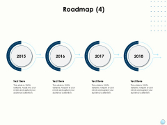 Fiscal Management Roadmap 2015 To 2018 Ppt Infographic Template Smartart PDF