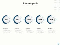 Fiscal Management Roadmap 2015 To 2019 Ppt Portfolio Slide Download PDF