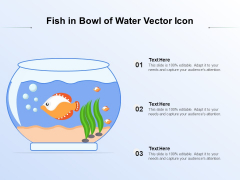 Fish In Bowl Of Water Vector Icon Ppt PowerPoint Presentation Professional Example Introduction PDF