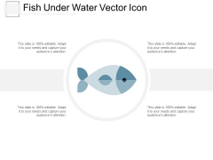 Fish Under Water Vector Icon Ppt Powerpoint Presentation Summary Microsoft