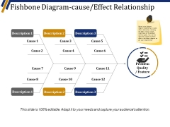 Fishbone Diagram Cause Effect Relationship Ppt PowerPoint Presentation Layouts Maker