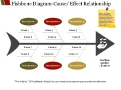 Fishbone Diagram Cause Effect Relationship Ppt PowerPoint Presentation Slides Icon