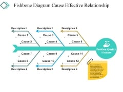 Fishbone Diagram Cause Effective Relationship Ppt PowerPoint Presentation Icon Portrait