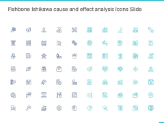 Fishbone Ishikawa Cause And Effect Analysis Icons Slide Ppt PowerPoint Presentation Professional Clipart PDF