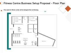 Fitness Centre Business Setup Proposal Floor Plan Ppt Summary Graphics PDF