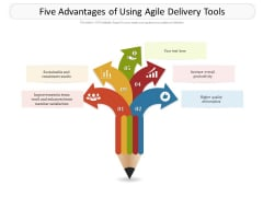 Five Advantages Of Using Agile Delivery Tools Ppt PowerPoint Presentation Layouts Slide PDF