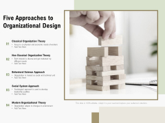 Five Approaches To Organizational Design Ppt PowerPoint Presentation Show Design Templates PDF