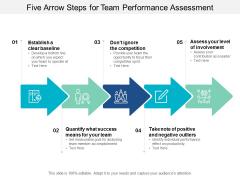five arrow steps for team performance assessment ppt powerpoint presentation model good