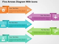 Five Arrows Diagram With Icons Powerpoint Templates