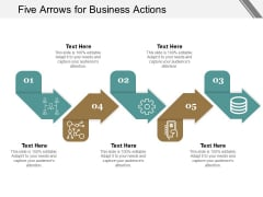 Five Arrows For Business Actions Ppt PowerPoint Presentation Summary Introduction