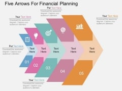 Five Arrows For Financial Planning Powerpoint Template