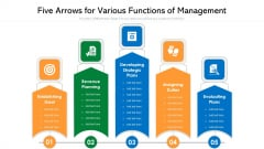 Five Arrows For Various Functions Of Management Ppt Inspiration Slide Download PDF