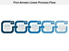 Five Arrows Linear Process Flow Ppt PowerPoint Presentation Summary Introduction PDF