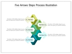 Five Arrows Steps Process Illustration Ppt PowerPoint Presentation Gallery Graphics Download PDF