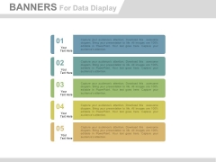 Five Banners To Display Business Information Powerpoint Template