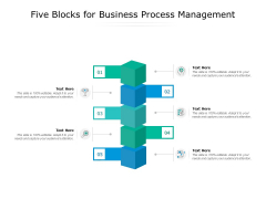 Five Blocks For Business Process Management Ppt PowerPoint Presentation Icon Gridlines