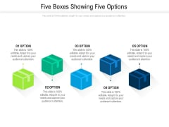 Five Boxes Showing Five Options Ppt PowerPoint Presentation File Portfolio PDF