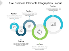 Five Business Elements Infographics Layout Ppt PowerPoint Presentation Inspiration Master Slide