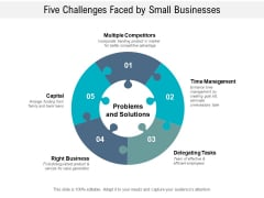 Five Challenges Faced By Small Businesses Ppt PowerPoint Presentation File Graphics Pictures