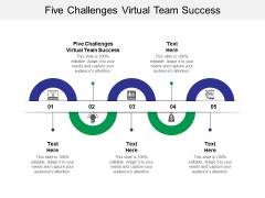 Five Challenges Virtual Team Success Ppt PowerPoint Presentation Portfolio Show Cpb