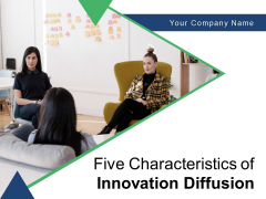 Five Characteristics Of Innovation Diffusion Compatibility Observability Communicability Ppt PowerPoint Presentation Complete Deck