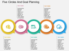 Five Circles And Goal Planning Powerpoint Template