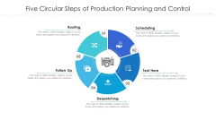 Five Circular Steps Of Production Planning And Control Ppt Outline Elements PDF