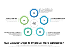Five Circular Steps To Improve Work Satisfaction Ppt PowerPoint Presentation Outline Guidelines PDF
