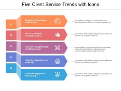 Five Client Service Trends With Icons Ppt Powerpoint Presentation Show Format Ideas