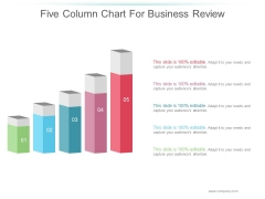 Five Column Chart For Business Review Ppt PowerPoint Presentation Diagrams